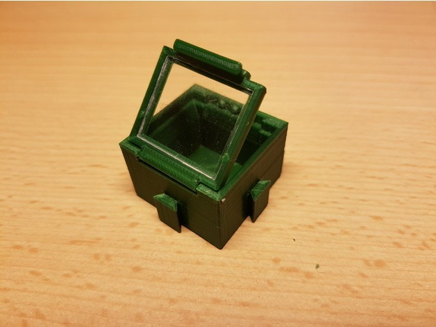 05df9edcc7fe38ca437f1bc4abbb47a1_preview_featured.jpg Download free STL file SMD SMT Connectable Container Box with plastic window • 3D printing model, ICTAvatar