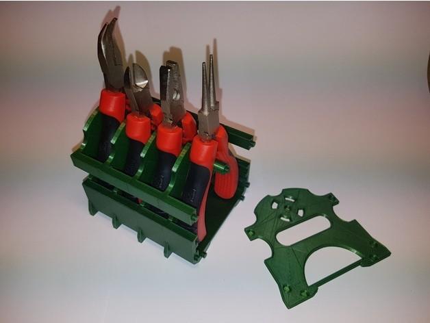 68fc39cb5f65d69b04b049d250c09df3_preview_featured.jpg Download free STL file Plier tools modular desktop stand • 3D printable template, ICTAvatar