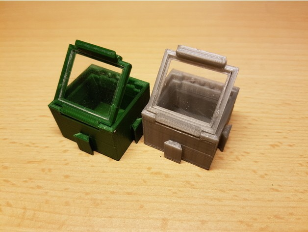 3811a6a544014ce26b491044049a65b5_preview_featured.jpg Download free STL file SMD SMT Connectable Container Box with plastic window • 3D printing model, ICTAvatar