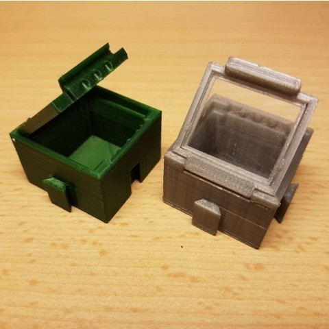 2135fe2508d976c7549b9f7cdd73f454_preview_featured.jpg Download free STL file SMD SMT Connectable Container Box with plastic window • 3D printing model, ICTAvatar
