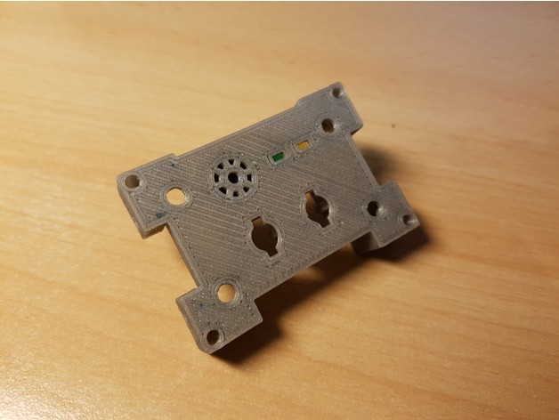 4bde62f0093c794b01dd779bf8de5755_preview_featured.jpg Download free STL file PC / Mining RIG Power Button / Reset / Buzzer / 5mm LED holder panel • 3D printing design, ICTAvatar