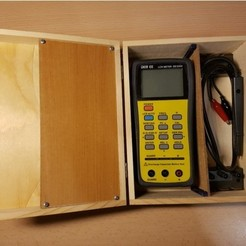 Free 3d printer model Wooden box modification for Multimeter, ICTAvatar