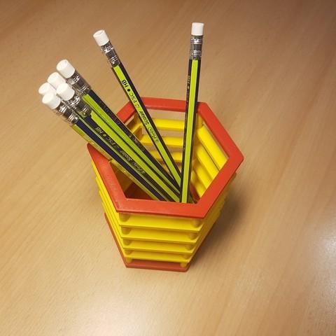 Descargar Modelos 3D para imprimir gratis Porta lápices, ICTAvatar
