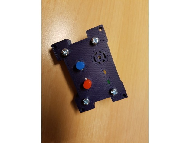 ae566253288191ce5d879e51dae1d8c3_preview_featured.jpg Download free STL file PC / Mining RIG Power Button / Reset / Buzzer / 5mm LED holder panel • 3D printing design, ICTAvatar