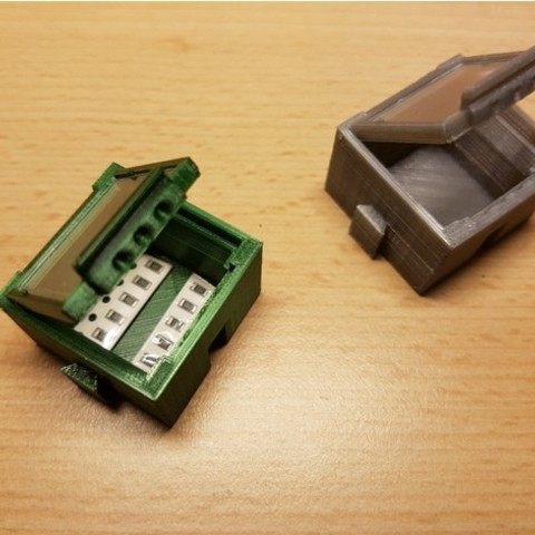 22c225720e1b14ac254ec72715429555_preview_featured.jpg Download free STL file SMD SMT Connectable Container Box with plastic window • 3D printing model, ICTAvatar