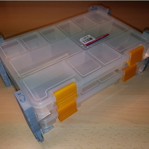 Descargar modelo 3D gratis Organizador universal stanley organizador de estanterías organizador de estanterías con cerradura, ICTAvatar