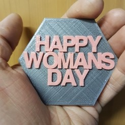 Download free 3D printing templates Woman's Day Plaque, shawnrchq