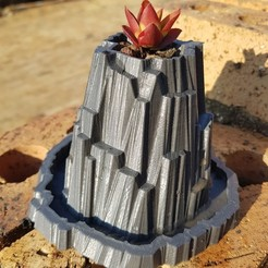 Free 3D printer designs Heroscape Rock Planter, shawnrchq