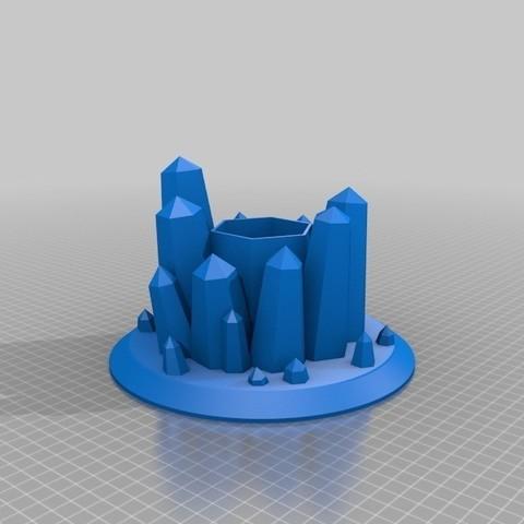 Télécharger fichier STL gratuit Jardinière en cristal • Plan pour impression 3D, shawnrchq