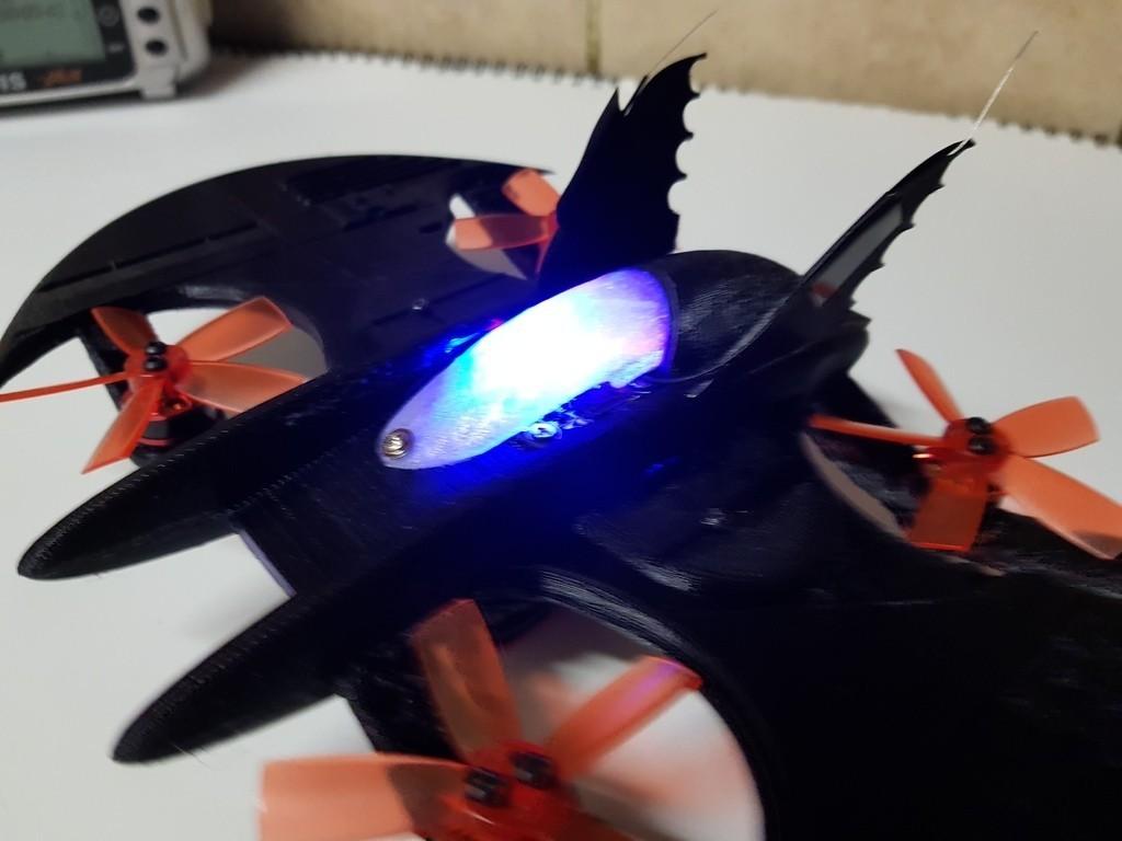 5ce933c160ffff1d46e82ededadd78cd_display_large.jpg Télécharger fichier STL gratuit Avion à chauve-souris RC Quadcopter • Plan à imprimer en 3D, shawnrchq