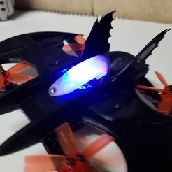 Download free 3D printing templates RC Bat Plane Quadcopter, shawnrchq