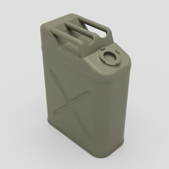 Perspective.jpg Download STL file U.S. Army WW2 Fuel Jerry Can 1/10 Scale • 3D printing template, BalihaiDesigns