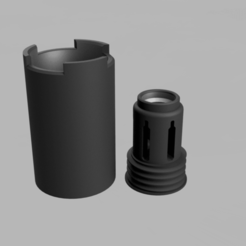 Descargar archivos 3D AMPLIFICADOR Flash Hider VNM (Airsoft) TYPE2, DELTA_7