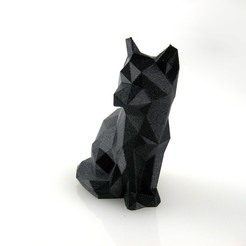Download free 3D printing designs Low Poly Fox, FrancescoRodighiero