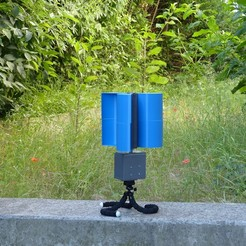 Download 3D printer designs Removable portable wind turbine, younessanga