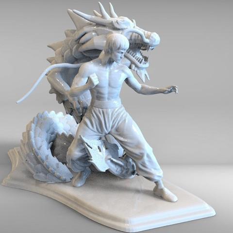 bruse lee m.10.jpg Télécharger fichier STL dragon bruce lee • Modèle imprimable en 3D, walades