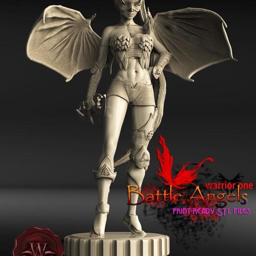 Descargar modelos 3D Battle Angel guerrero uno, walades