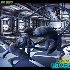 untitled.781.jpg Download STL file alien love • 3D printer template, walades