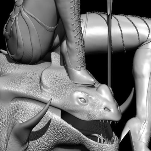 BPR_Render4.jpg Download STL file dragon head • Design to 3D print, walades