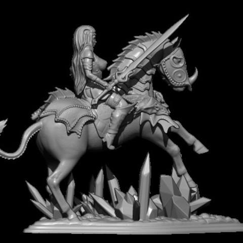 5.jpg Télécharger fichier STL gratuit femme avec cheval • Objet pour impression 3D, walades