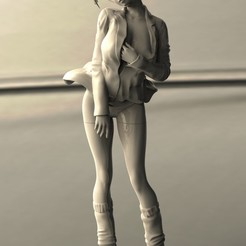 untitled.708.jpg Download STL file Anime girl 3  • 3D printing design, walades