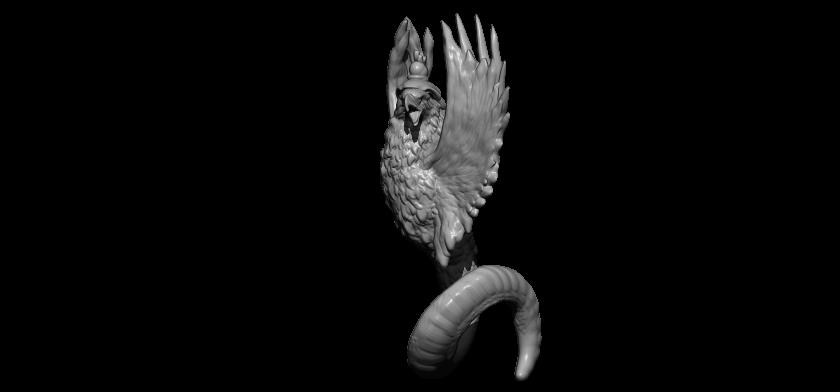 2BPR_Render.jpg Télécharger fichier STL gratuit serpent aigle • Modèle à imprimer en 3D, walades