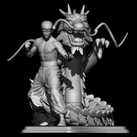 4BPR_Render.jpg Télécharger fichier STL dragon bruce lee • Modèle imprimable en 3D, walades