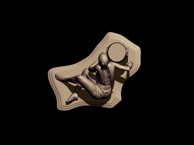 BPR_Render savage.png5.png Download free STL file savage dance • 3D print template, walades