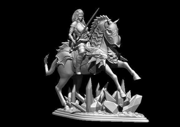 1.jpg Télécharger fichier STL gratuit femme avec cheval • Objet pour impression 3D, walades