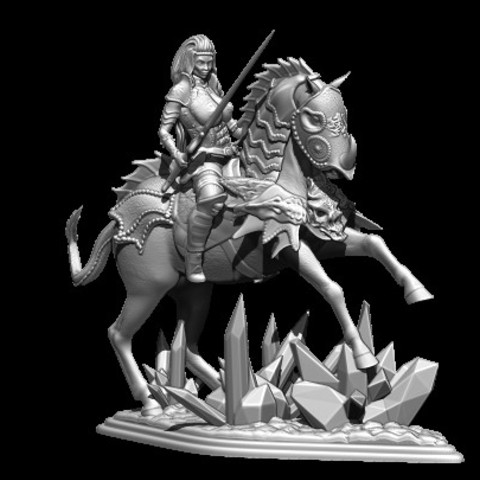 3D printer models woman with horse, vovavolnuhin
