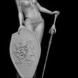 diseños 3d warior con escudo, vovavolnuhin