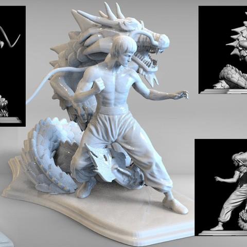 bruse lee m2.10.jpg Télécharger fichier STL dragon bruce lee • Modèle imprimable en 3D, walades