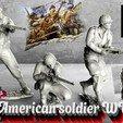 Descargar modelos 3D para imprimir set soldado americano WW2 kit1, walades