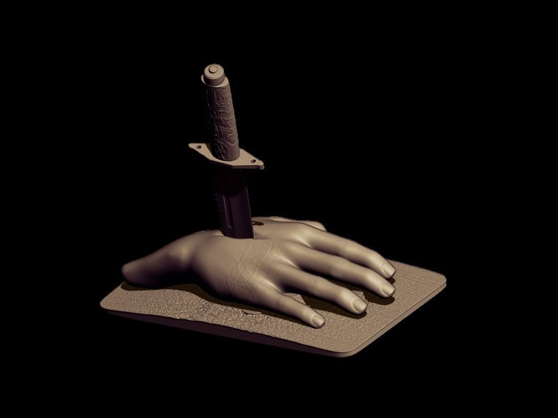 BPR_Render knife 5.jpg Download OBJ file knife • 3D print design, walades