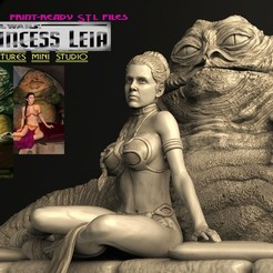 1ыувап.jpg Download STL file Princess Leia • 3D print template, walades
