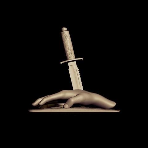 BPR_Render knife 3.jpg Download OBJ file knife • 3D print design, walades