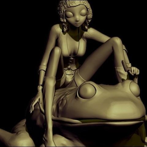 frog render5.jpg Télécharger fichier OBJ gratuit grenouille • Design imprimable en 3D, walades