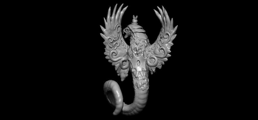 3BPR_Render.jpg Télécharger fichier STL gratuit serpent aigle • Modèle à imprimer en 3D, walades