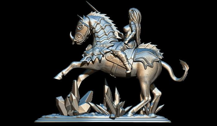 3.jpg Télécharger fichier STL gratuit femme avec cheval • Objet pour impression 3D, walades