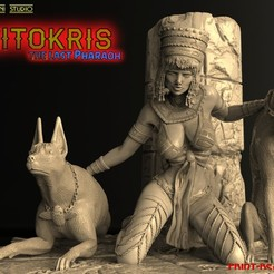 1f.jpg Download STL file NITOKRIS THE LAST PHARAOH • 3D printer template, walades