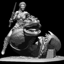 8.jpg Download STL file the worm and the rider • Model to 3D print, walades