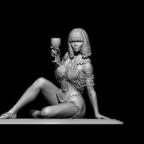 faraon woman.jpg Download OBJ file Egyptifn Queen • 3D print model, walades