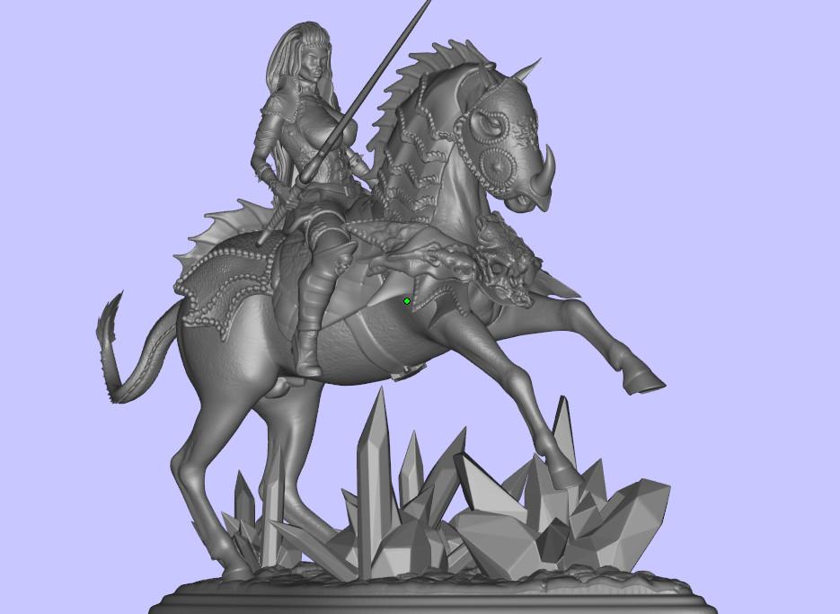 bandicam 2019-07-11 12-39-48-425.jpg Télécharger fichier STL gratuit femme avec cheval • Objet pour impression 3D, walades