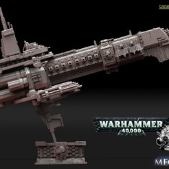 1а.jpg Download STL file Battleship Adeptus Mechanicus • Template to 3D print, walades