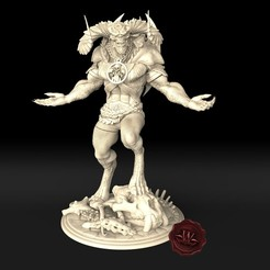 1.jpg Download STL file Red Demon (walades miniatures mini studio) • 3D printing model, walades