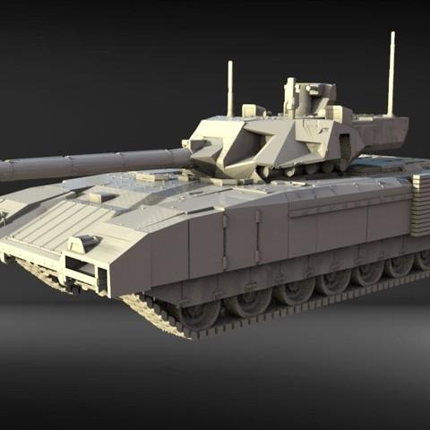 Descargar modelo 3D tanque Armata t-14, walades