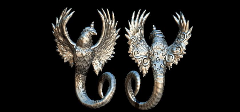 2.jpg Télécharger fichier STL gratuit serpent aigle • Modèle à imprimer en 3D, walades