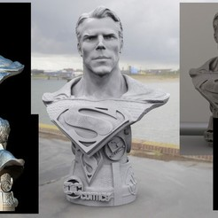 Download 3D printing designs supermen bust, walades