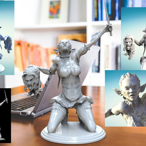 Descargar modelos 3D Elfa Enfadada, walades