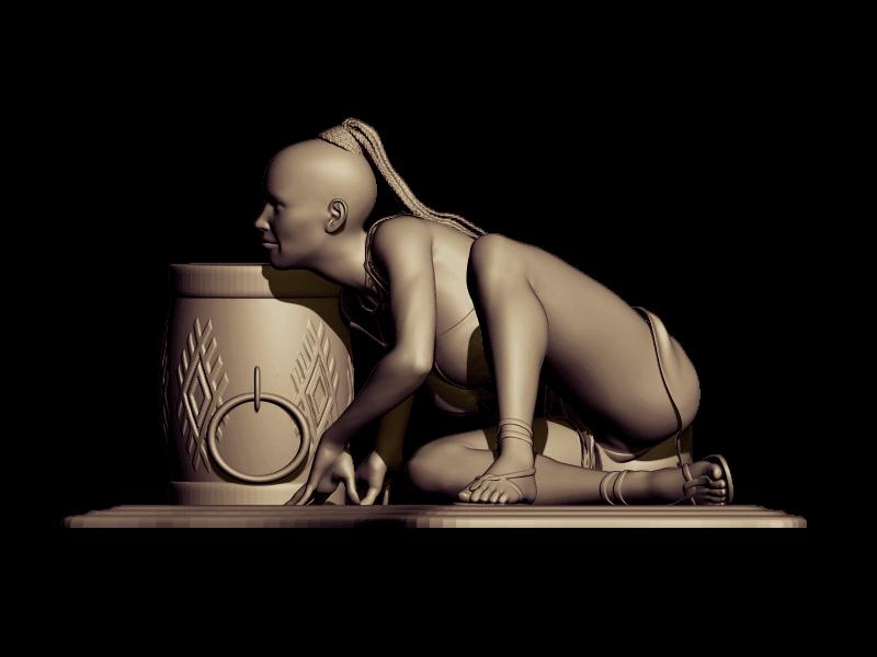 BPR_Render savage.png Download free STL file savage dance • 3D print template, walades